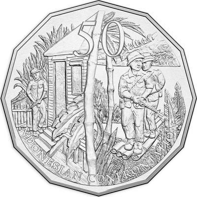 Австралия, 50 центов 2016 года, « Индонезийско-малайзийская конфронтация», серия Австралия в войне.jpg