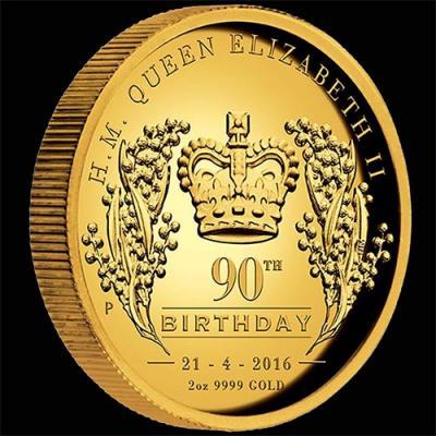 Австралия, 200 долларов 2016 года, 90 лет королеве (реверс).jpg