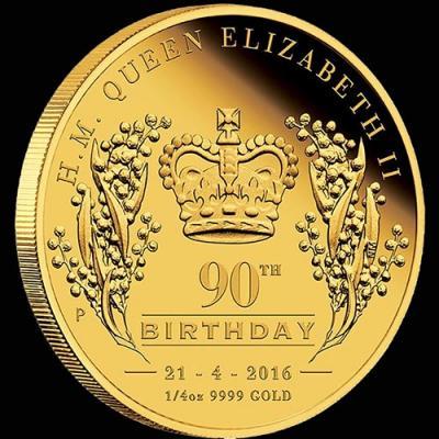 Австралия, 25 долларов 2016 года, 90 лет королеве (реверс).jpg