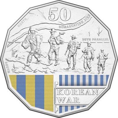 Австралия, 50 центов 2016 года, «Корея», серия Австралия в войне (реверс).jpg