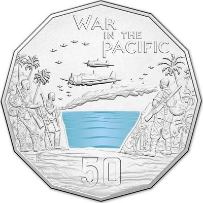 Австралия, 50 центов 2015 года, «войны в Тихом океане», серия Австралия в войне.jpg