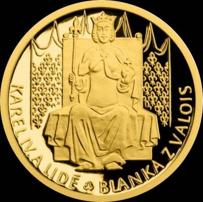 Остров Ниуэ 5 долларов 2016 года реверс « Бланка Валуа жена Карла IV».jpg