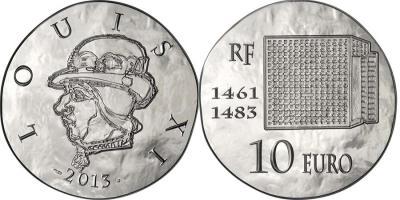 22 июля 1461 года - королем Франции становится Людовик XI(France-2013-10-euro, 10-euro).jpg