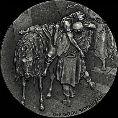 Остров Ниуэ 2 доллара 2016 года «Притча о милосердном самарянине» (аверс).jpg