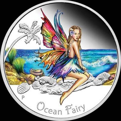 Тувалу, 50 центов 2016 года. «1.2OZ Фея океана»  (реверс).jpg