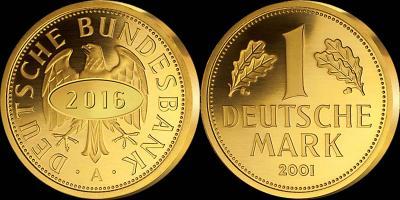 Германия 15 лет выпуска «золотой марки».jpg