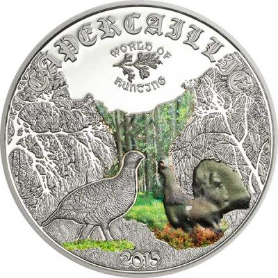 Острова Кука 2 доллара 2015 года, монета серии «Мир охоты. Глухарь».jpg