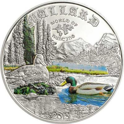 Острова Кука 2 доллара 2015 года, монета серии «Мир охоты. Кряква».jpg