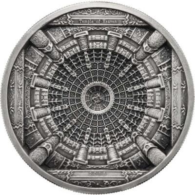 Острова Кука 20 долларов 2015 года  «Храм Неба в Пекине».jpg