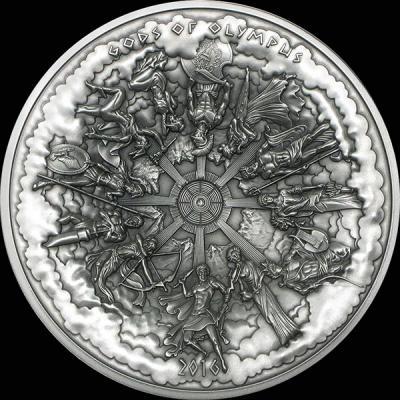 Острова Кука 50 долларов (1 кг) 2016 года  «Боги Олимпа» (реверс).jpg