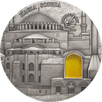 Палау 10 Долларов 2016 года Стамбул. собор Святой Софии (реверс).jpg