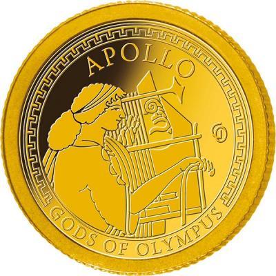 Самоа 1 доллар 2016 года Боги Олимпа (Аполлон).jpg