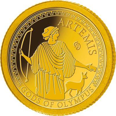 Самоа 1 доллар 2016 года Боги Олимпа (Артемида).jpg