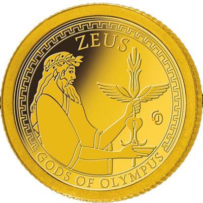 Самоа 1 доллар 2016 года Боги Олимпа (Зевс).jpg