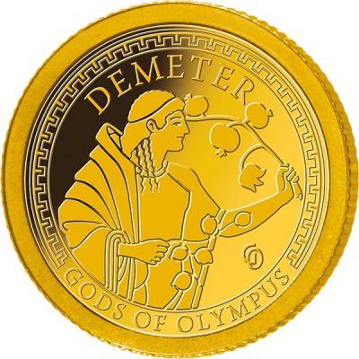 Самоа 1 доллар 2016 года Боги Олимпа (Деметра).jpg