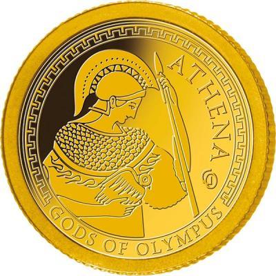 Самоа 1 доллар 2016 года Боги Олимпа (Афина).jpg