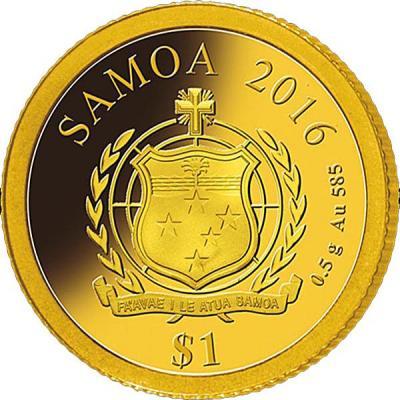 Самоа 1 доллар 2016 года 0,5 гр золото  (аверс).jpg