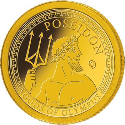 Самоа 1 доллар 2016 года Боги Олимпа (Посейдон).jpg