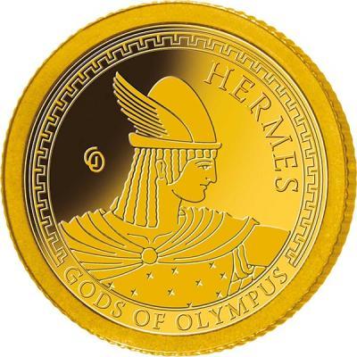 Самоа 1 доллар 2016 года Боги Олимпа (Гермес).jpg