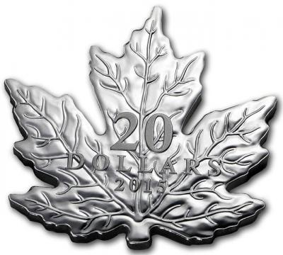 Канада 20 долларов 2015 года «Кленовый лист».jpg