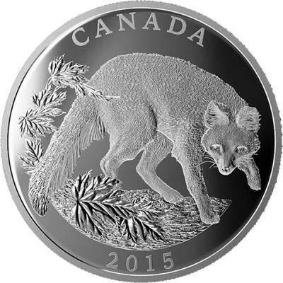 Канада 125 долларов 2015 года «Американский корсак».jpg