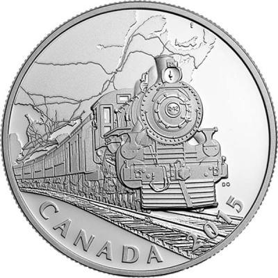 Канада 20 долларов 2015 года «Трансконтинентальная железная дорога».jpg