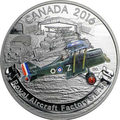 Канада 20 долларов 2016 Ройал Эйркрафт Фэктори S.E.5 (реверс).jpg