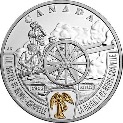 Канада 20 долларов 2015 года «Битва за Нев-Шапель».jpg