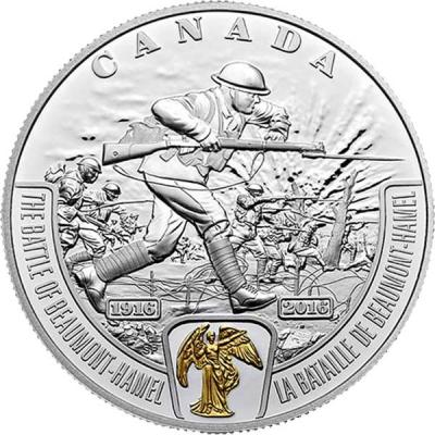 Канада 20 долларов 2016 Первая мировая «Битва за Бомон-Амель» (реверс).jpg