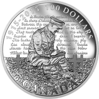 Канада 100 долларов 2015 года «День памяти» (Георг V).jpg