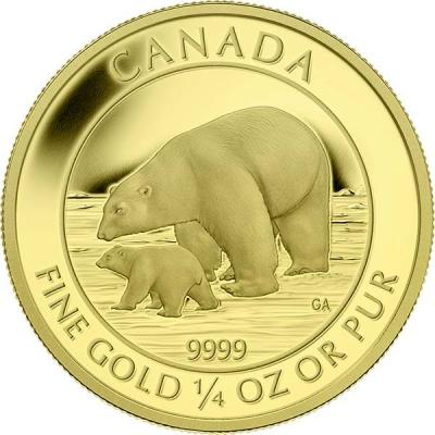 Канада 10 долларов 2015 года «Полярный медведь с детёнышем».jpg