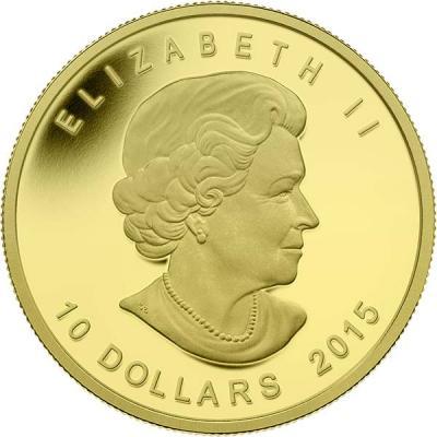 Канада 10 долларов 2015 года золото (аверс).jpg