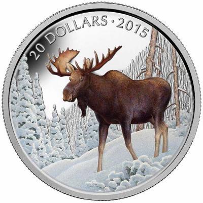 Канада 20 долларов 2015 года «Лось».jpg