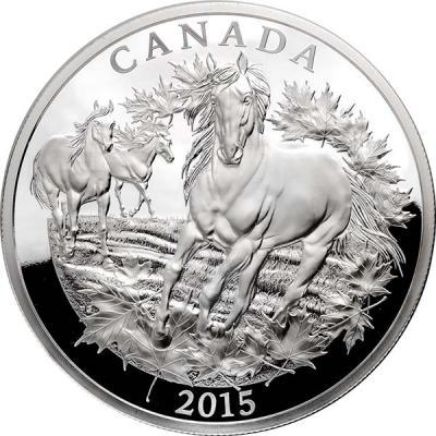 Канада 125 долларов 2015 «Дикие лошади Канадских Скалистых гор».jpg
