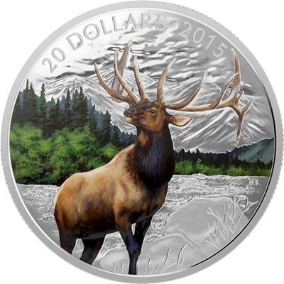 Канада 20 долларов 2015 года «Карибу».jpg