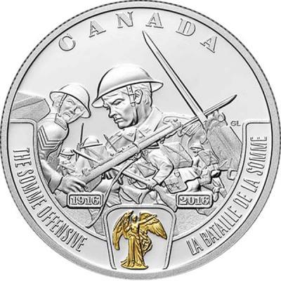 Канада 20 долларов 2016 Первая мировая «Битва на Сомме».jpg