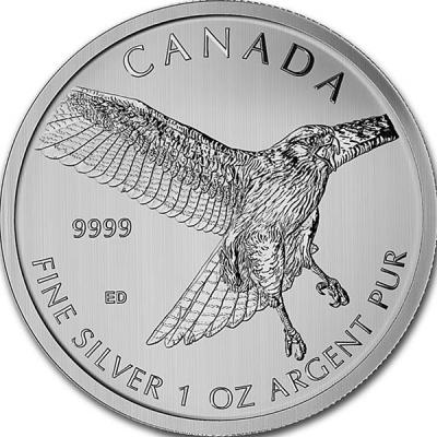 Канада 1 oz   2015 года «Красный ястреб».jpg