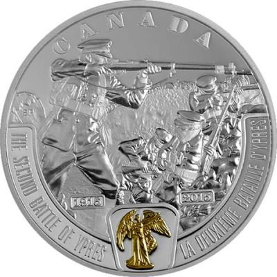 Канада 20 долларов 2015 года «Вторая битва при Ипре».jpg