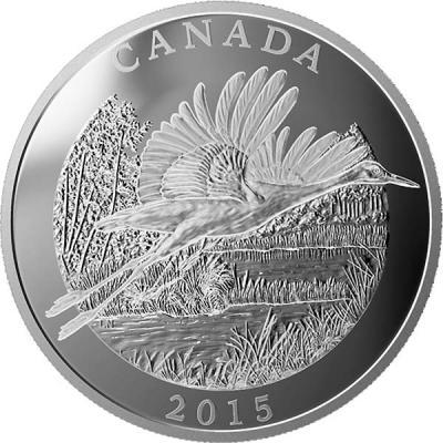 Канада 125 долларов 2015 года «Канадский журавль».jpg