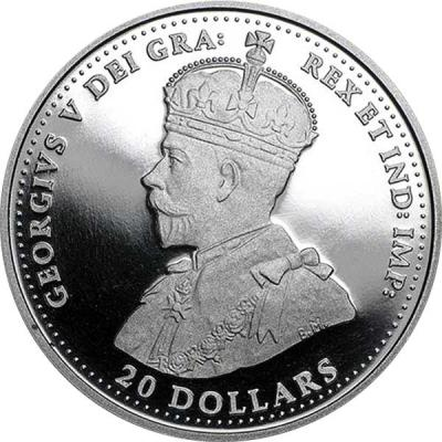 Канада 20 долларов Первая Мировая война Георг V (аверс).jpg
