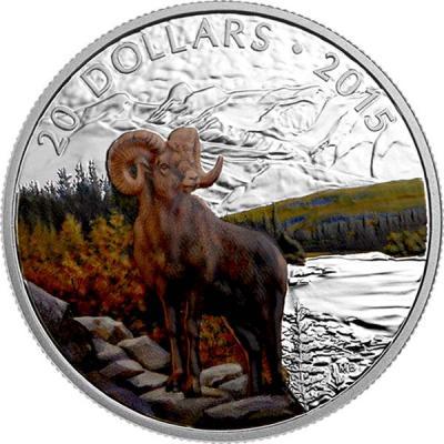 Канада 20 долларов 2015 года «Толсторог».jpg