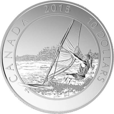 Канада 10 долларов 2015 год «Виндсёрфинг».jpg
