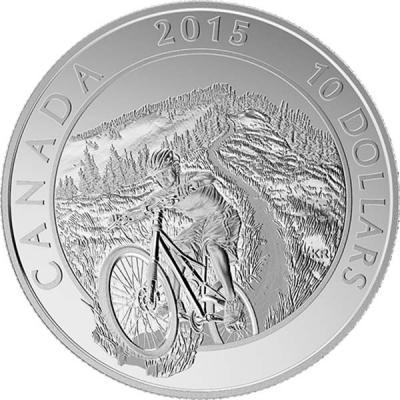 Канада 10 долларов 2015 год «Горный велосипед».jpg