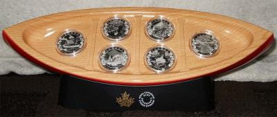 Канада набор 6Х10 долларов «По всей Канаде на каноэ» (упаковка).jpg