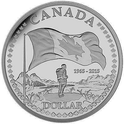 Канада 1 доллар 2015 года «50 лет Флагу Канады».jpg