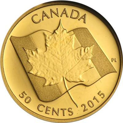 Канада 50 центов 2015 года «50 лет Флагу Канады».jpg