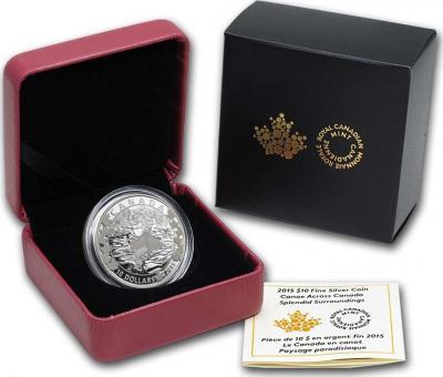 Канада 10 долларов 2015 «По всей Канаде на каноэ».jpg