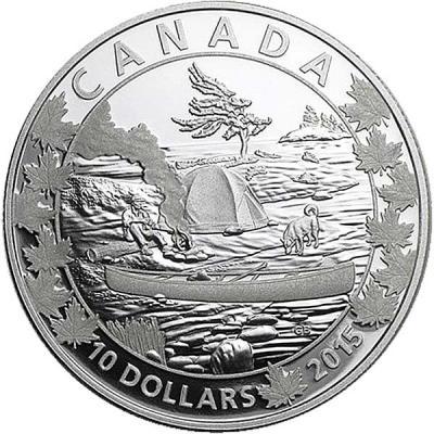 Канада набор 6Х10 долларов «По всей Канаде на каноэ» 4.jpg