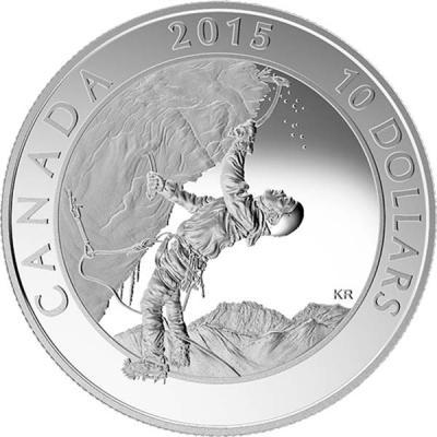 Канада 10 долларов 2015 год «Ледолазание».jpg