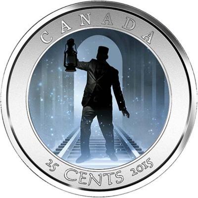 Канада 25 центов 2015 года «Привидения Канады - Кондуктор».jpg